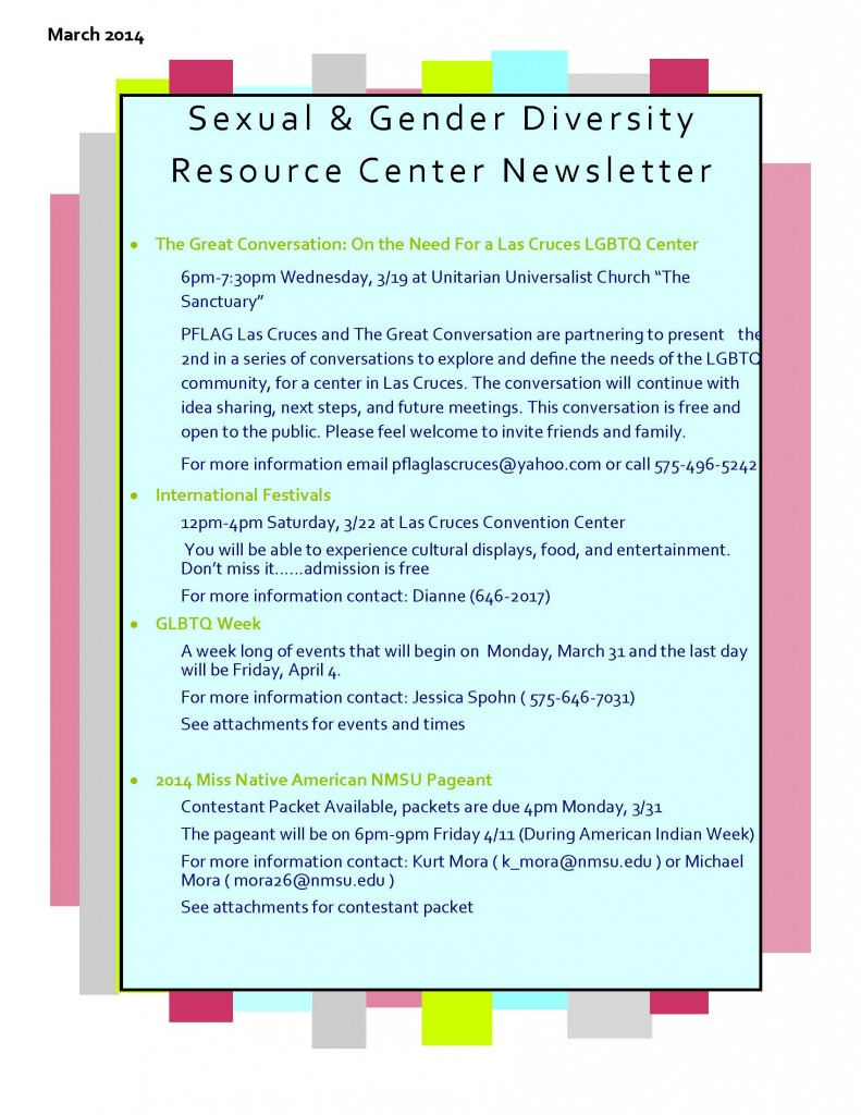 Newsletter Mar. 14